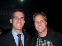 Then Councilman Eric Garcetti and Greg Delger
