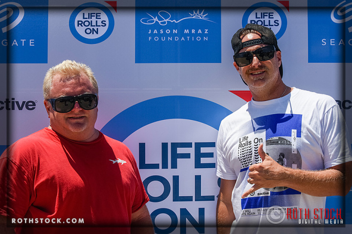"EduSkate Co-Founders Lance Bowling and Greg Delger attend the Life Rolls On ""They Will SKATE Again"""